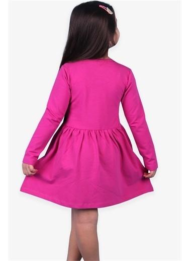 Breeze Kız Çocuk Uzun Kollu Elbise Baskılı Fuşya (5-10 Yaş) Fuşya